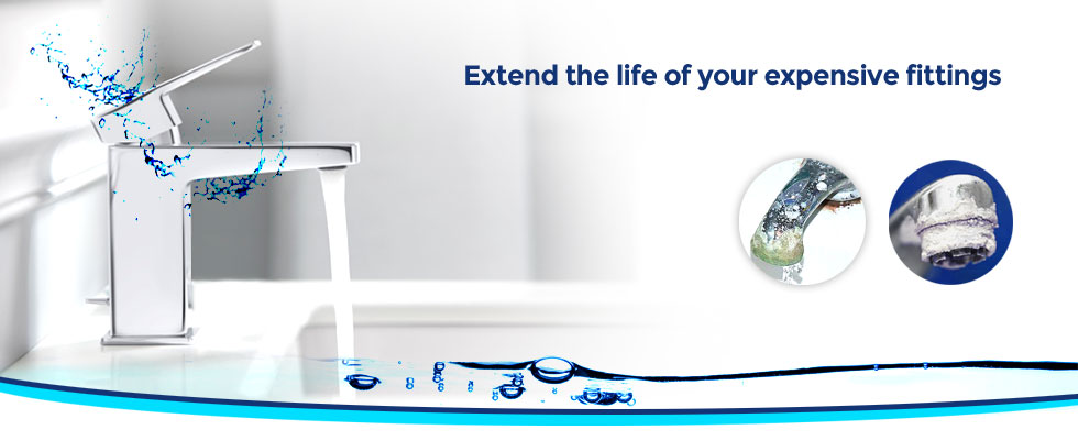 Noble Aqua save Bathroom kitchen fittings from hardwater scaling